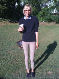 American Apparel Riding Pant, American Apparel Pique Pullover, American Apparel Peter Pan Button Up, Starbuck Pumpkin Spice Latte
