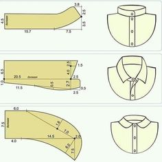 How to sew a pants fly Dress Sewing Patterns, Clothing Patterns, Sewing Hacks, Sewing Tutorials, Sewing Ideas, Sewing Collars, Sewing Men, Sewing Blouses, Collar Pattern
