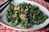 Make healthy miso-walnut dressing for a kale salad