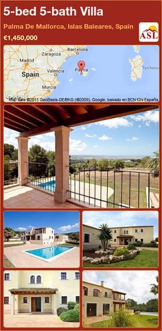 Villa for Sale in Palma De Mallorca, Islas Baleares, Spain with 5 bedrooms, 5 bathrooms - A Spanish Life Murcia, Valencia, Swimming Pool Equipment, Barcelona, Guest Toilet, Bedroom With Ensuite, Double Room, Central Heating, Open Plan Kitchen