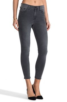 J BRAND PHOTO READY BREE JEANS HIGH RISE SKINNY CROP DENIM 8040 NIGHTBIRD SZ 27…