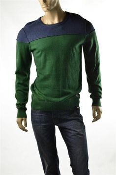 Buffalo David Bitton Sweaters Tonal Color Block Pullover Crew Sweater Sz L NWT #BuffaloDavidBitton #Crewneck #5Gables
