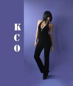 90's Vintage Velvet Jumpsuit by Katrajina&Co, $64.00
