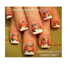 Nail-art by Robin Moses: February 2012 Fun Nails, How To Do Nails, Nail Art Designs, Shellac Nail Art, Couture Nails, Robin Moses, Nail Art For Beginners, Blue Tips, Painted Nail Art