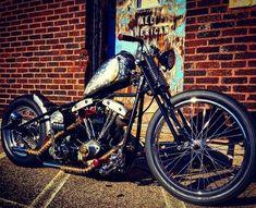 My 75 Shovelhead, AMF, Harley-Davidson, Bobber, Springer, Hardtail