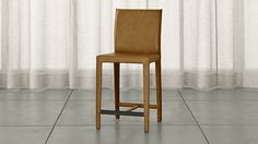 Folio Top-Grain Leather Bar Stool | Crate and Barrel