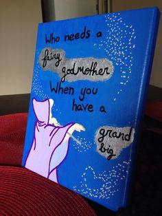 Grandbig Fairy Godmother Canvas by SamsSororityStash on Etsy