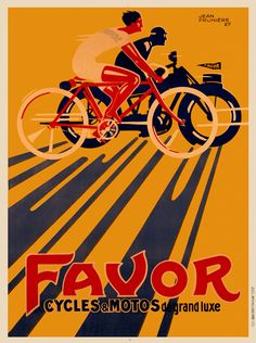 #Bicycle Ads Favor Cycles Vintage Bicycle Poster
