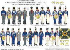 板156:プロイセン王国:4区歩兵連隊1813年から1815年