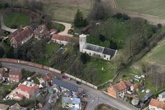 Syderstone - St Mary's Church - aerial pic | by John D F