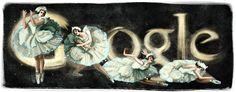 Anna Pavlova's 131st Birthday [131 год со дня рождения Анны Павловой] /This doodle was shown: 12.02.2012 /Countries, in which doodle was shown: Belarus, Russia, Ukraine