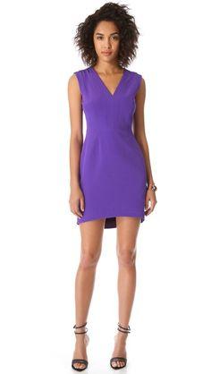 Tibi V Neck Panel Dress