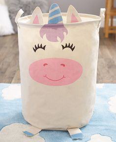Add a pop of color and fun to a child's room with this Whimsical Character Laundry Bin. Laundry Bin, Laundry Storage, Laundry Hamper, Storage Organization, Picnic Table Covers, Toilet Shelves, Bin Bag, Birth Records, Ltd Commodities