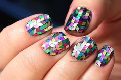Rainbow - glitter - herringbone. Wow