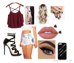 """Untitled #4"" by kearstin7376 on Polyvore featuring Jimmy Choo, Casetify, Lime Crime and alfa.K"