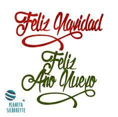 Freebie de frases navideñas  #PlanetaSilhouette
