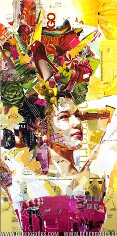 Artist Derek Gores creates new, vibrant images of people and objects through collage.