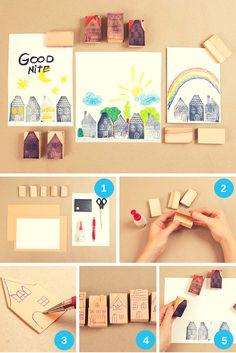 Stempel selber machen: die einfachste und günstigste Art, Stempel selber zu machen. Auch für Kinder geeignet.