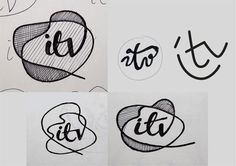 This is an interesting pin that aids in revealing the process in sketching and designing a logo. It shows how various sketches can be formed and created from sparking the idea of one.