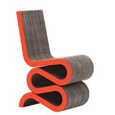 Frank Gehry Wiggle Side Chair with a new dimension — color! via bonluxat.com