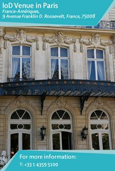 By special agreement with the #private #members' #club, #France-Amériques, #IoD #members may use meeting facilities in the heart of Paris. Find out more: http://www.iod.com/your-venues-and-benefits/iod-venues/paris