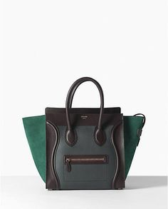 replica celine luggage mini horsehair leather with calfskin leather boston bag coffee