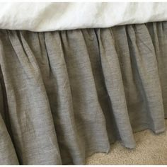 Natural Linen Dust Ruffle in Dark Shade | Handcrafted by Superior Custom Linens (from http://ift.tt/2dVFTho)  Double tab for more images.  #fortheloveoflinen #linen #bedlinen #tellmemore #interior4all #linenbedding #purelinen #linen #purelinenutrition #instafashion #instagood #farmhousedecor  #cottagestyle #cottageliving #mycottageinstincts #farmhousechic #farmhousebedroom #farmhousebedding  #rufflebedding #ruffles #ruffleswithlove #interiordecor #bedroomdecor #bedroominspiration #handmade…