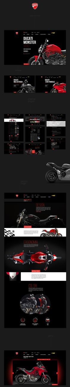 DUCATI redesign website concept on Behance