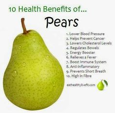 10 Health benefits of Eating a Pear