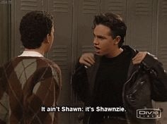 "When he was ""Shawnzie."" 