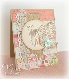 "Pretty ""Wings of love"" card."
