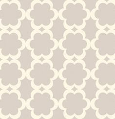 1 yard Dena Designs Taza tarika in neutral gray lattice flower geometric Free Spirit fabric Dena Fishbein