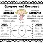 Compare and Contrast Poster and Venn Diagram to use with any type of text.   I hope you enjoy this freebie...I would appreciate any feedback that y...