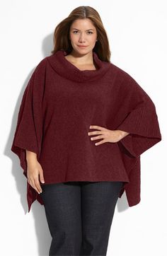 Love.    Eileen Fisher Cowl Neck Sweater Poncho (Plus)   Nordstrom