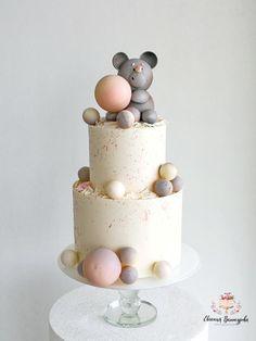 Children's cake with Teddy bear) by Evgenia Vinokurova