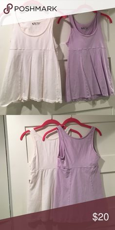 Bra Tops from Victoria's Secret -Lilac and white Brand new never worn. Each 20 or 35 for both. Victoria's Secret Tops