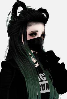 IMVU Fille Blonde Anime, Fille Anime Cool, Cool Anime Girl, Beautiful Anime Girl, Anime Art Girl, Gothic Anime, Digital Art Girl, Manga Girl, Imvu