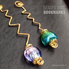 76 Crafts To Make and Sell - Easy DIY Ideas for Cheap Things To Sell on Etsy, Online and for Craft Fairs. Make Money with These Homemade Crafts for Teens, Kids, Christmas, Summer, Mother's Day Gifts. |  Beaded Wire Bookmarks  |  diyjoy.com/crafts-to-make-and-sell