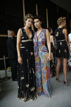 Sisters Gigi and Bella Hadid line up for the #SS16 runway rehearsal http://on.dvf.com/1NxP85u #NYFW