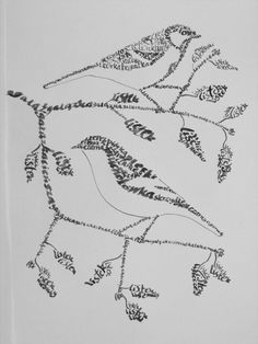 calligram birds by absurdynka.deviantart.com on @deviantART