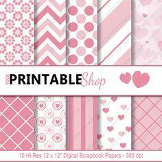 INSTANT DOWNLOAD  Valentine's Day Scrapbook by YourPrintableShop