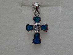 $26 Pendant  [ Sterling Silver & Blue Opal, info@bijuterie-online.ro