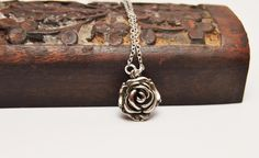 Rose Necklace. Great as a bridesmaid gift