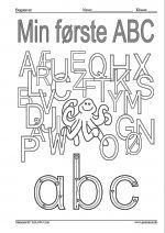 Lær at skrive alle de små bogstaver