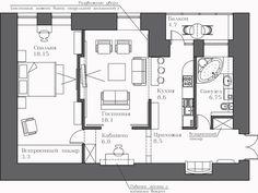Раздаем советы - планировка двухкомнатной квартиры - дневник архбюро BERLOGA