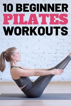 If you're looking to get into pilates, then you're in the right place. Don't worry if you're a beginner, you'll be able to get into it very easily. Pilates is a beginner-friendly type of workout that will improve your posture. It will also strengthen your core and improve your balance. Exercises can vary from easy to more challenging. Get ready to improve your strength and appearance with these easy pilates workouts for beginners. #pilates #workouts #exercises #fitness Pilates Training, Pilates Workout, Pop Pilates, Pilates Yoga, Toning Workouts, Easy Workouts, Beginner Workouts, Workout Tips, Fitness Workout For Women