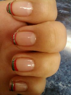 Mexican French tips French Tips, Mexican, Nails, Beauty, Finger Nails, French Nails, Ongles, Cosmetology, Nail