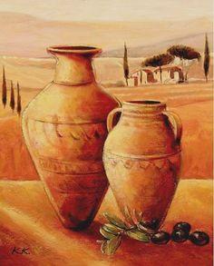 Karsten-Kirchner-Mediterranean-Paradise-Leinwand-Bild-24x30-Wandbild-Toskana