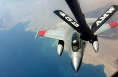 Photo: (c) USAF - An Egyptian Air Force F-16 refuels from a USAF KC-135 Stratotanker from the 452d Air Mobility Wing .