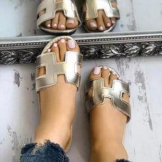 8623655237eef4 Casual Peep Toe Beach Pu Slippers Jeweled Sandals